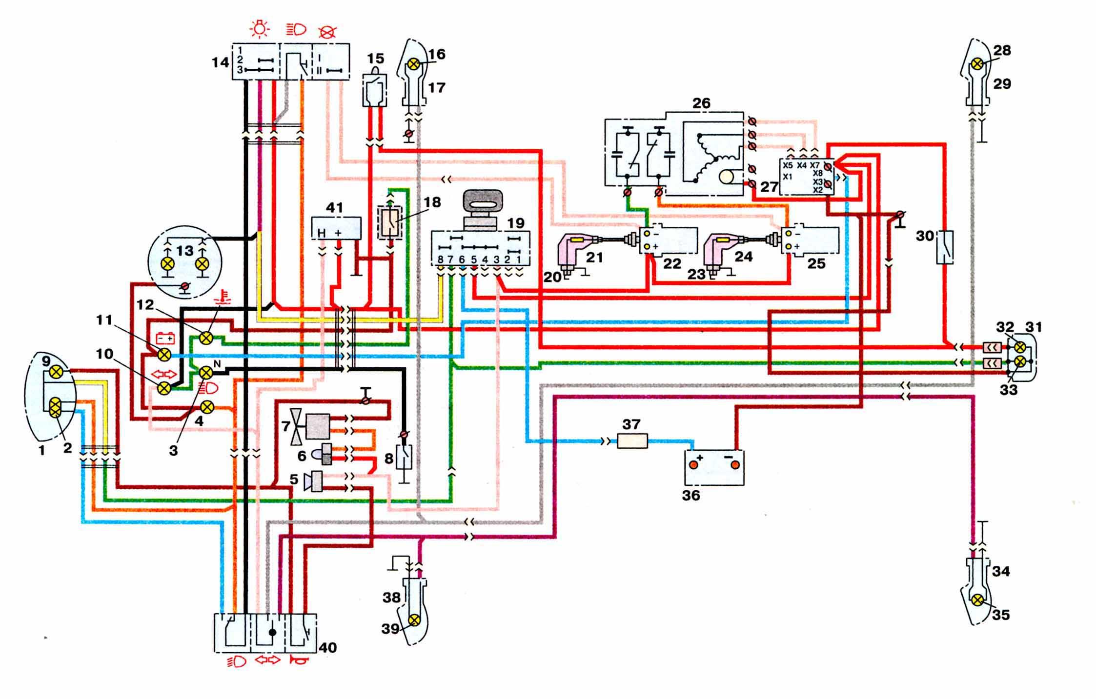 Схема подключение света на иж 5